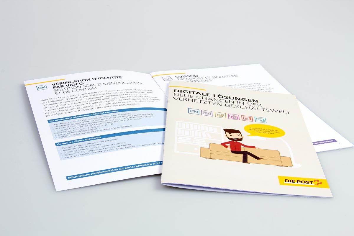 Post Broschüre Digitale Lösungen